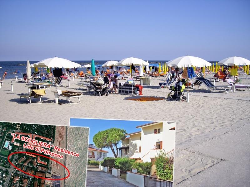 Villette per vacanze comprensive di spiaggia privata - varie tipologie in affitto - zona centralissima a pochi passi dal centro del Lido di Pomposa Rif. 5778805